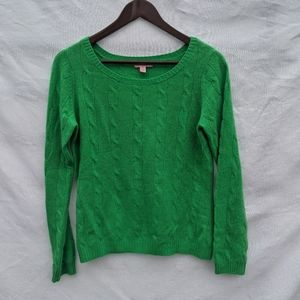 Lilly Pulitzer 100% cashmere crew neck cableknit